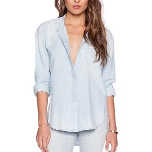 COH Bleached Blue Button Front Shirt S